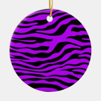 La cebra púrpura eléctrica raya el estampado de ornamente de reyes