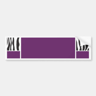 La cebra púrpura invita pegatina para auto