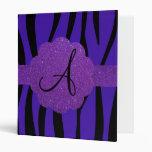 La cebra púrpura raya el monograma