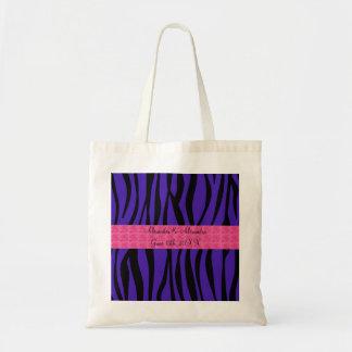 La cebra púrpura raya los rosas rosados que casan  bolsas