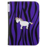 La cebra púrpura raya unicornio