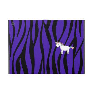La cebra púrpura raya unicornio iPad mini fundas