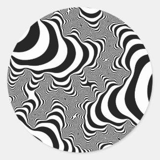 La cebra raya a los pegatinas redondos grandes etiquetas redondas