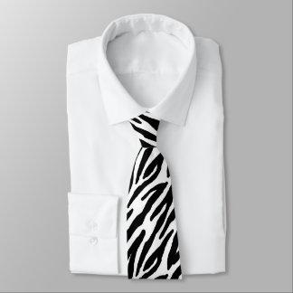 La cebra raya el modelo corbatas personalizadas