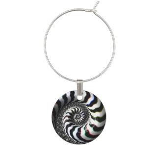 La cebra raya el modelo espiral del fractal identificador de copa
