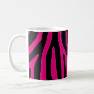 La cebra raya el modelo + su fondo y ideas taza de café