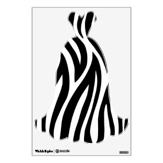 La cebra raya el vestido vinilo decorativo