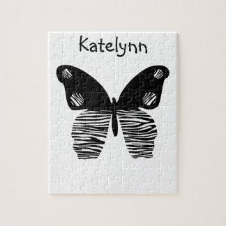 La cebra raya rompecabezas de la mariposa