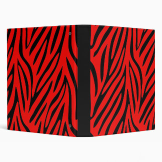 la cebra roja y negra raya la carpeta