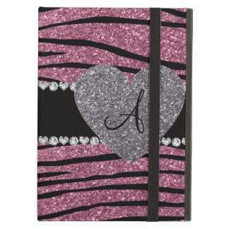 La cebra rosada brumosa del brillo del monograma