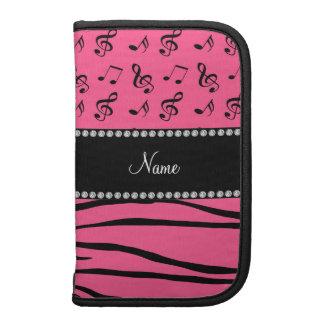 La cebra rosada conocida de encargo raya notas planificador