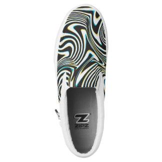 """La cebra torcida raya el modelo """"efecto de cristal zapatillas"""