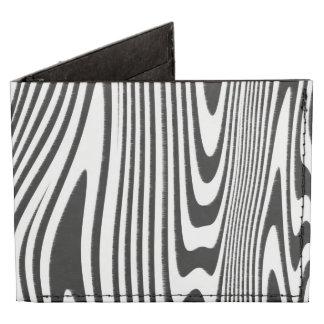 La cebra torcida raya la cartera de tres pliegues billeteras tyvek®