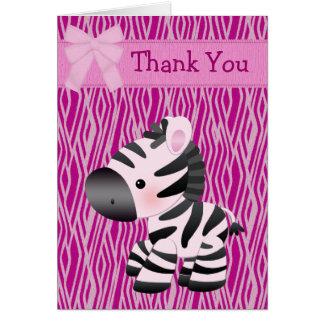 La cebra y la magdalena rosadas lindas (dentro) le felicitación
