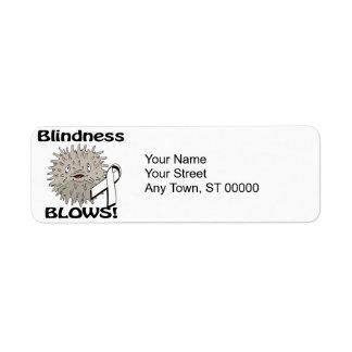 La ceguera sopla diseño de la conciencia etiqueta de remitente