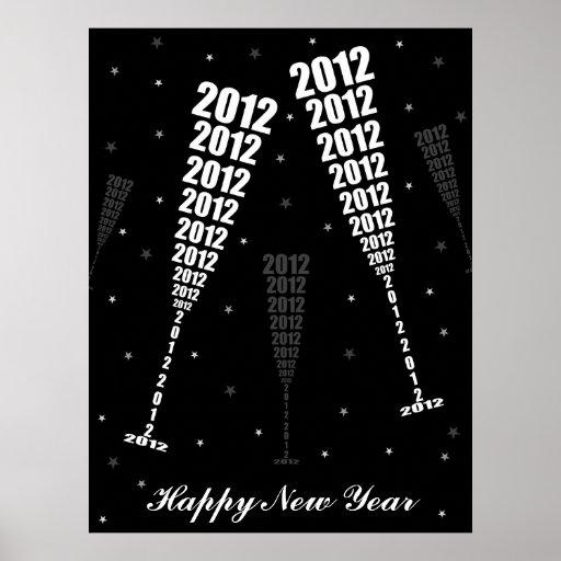 La celebración 2012 - el tostar del Año Nuevo de l Póster