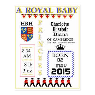 La celebración carda a princesa real Charlotte Postal