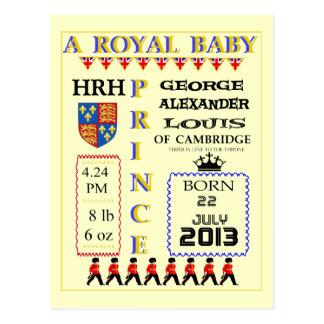 La celebración carda a príncipe real George de Postal
