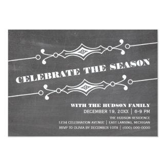 """La celebración de días festivos inclinada de la invitación 5"""" x 7"""""""