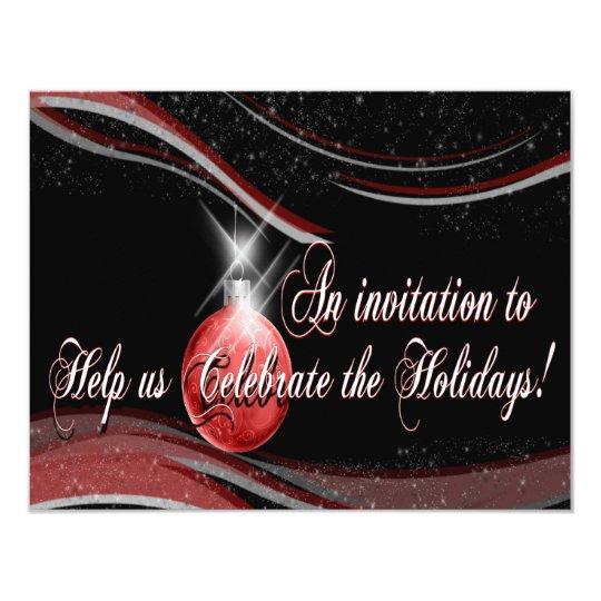 """La celebración de días festivos invita invitación 4.25"""" x 5.5"""""""