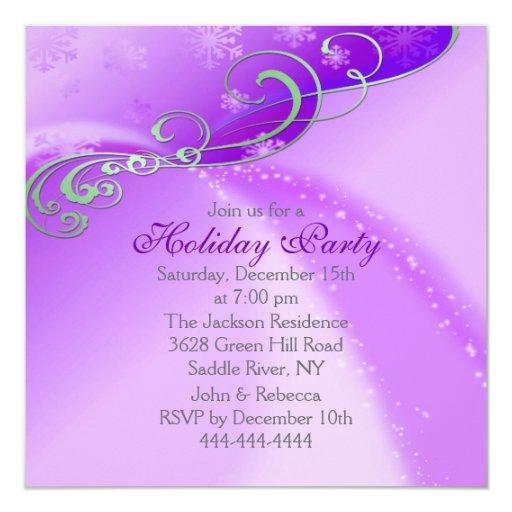 La celebración de días festivos púrpura/blanca del invitación personalizada