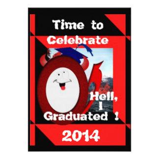 La celebración de la graduación invita invitación personalizada