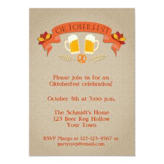 """La celebración de Oktoberfest invita Invitación 5"""" X 7"""""""