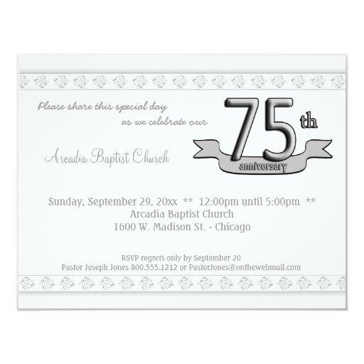 """La celebración de plata del aniversario del invitación 4.25"""" x 5.5"""""""