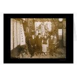 La celebración del Año Nuevo en Chinatown, NY 1911 Tarjetón