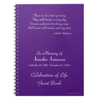 La celebración del libro de visitas de la vida libretas espirales