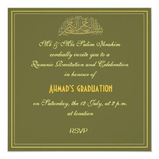"""La celebración musulmán de la recitación de invitación 5.25"""" x 5.25"""""""