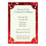 La celebración roja de encargo de la Nochebuena de Invitación 12,7 X 17,8 Cm
