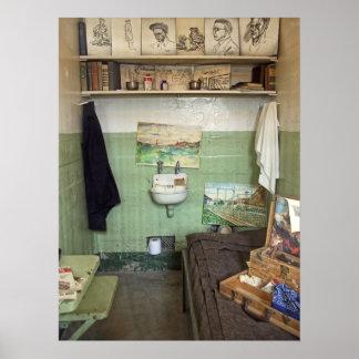 La célula del artista de Alcatraz Póster
