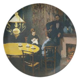 La cena, Claude Monet interior Plato