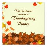 La cena colorida de la acción de gracias de las invitación 13,3 cm x 13,3cm