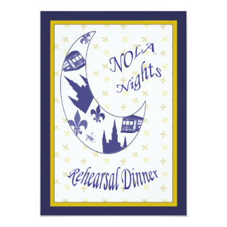 """La cena creciente del ensayo de la luna de New Invitación 5"""" X 7"""""""