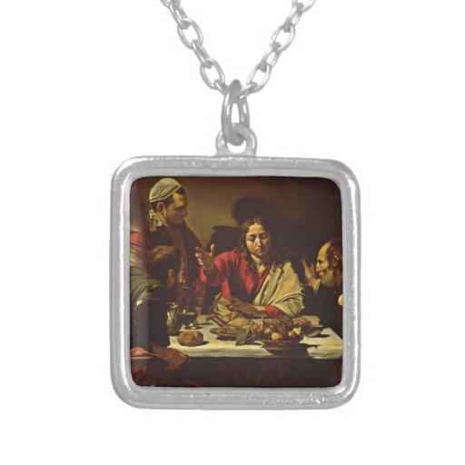 La cena de Cristo en Emmaus Pendientes
