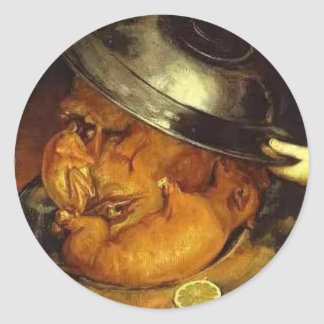 La cena de Giuseppe Arcimboldo Etiqueta Redonda