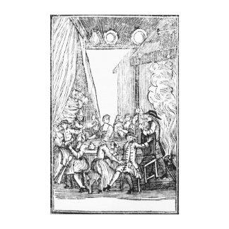 La cena de la cosecha, de las baladas de Roxburghe Impresion De Lienzo