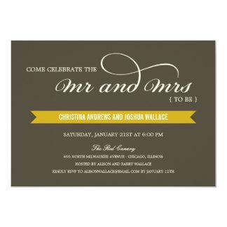 La cena de Sr. y de señora Wedding Shower Invitacion Personalizada
