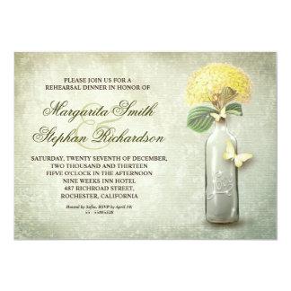 la cena del ensayo de la botella de vino del invitación 12,7 x 17,8 cm