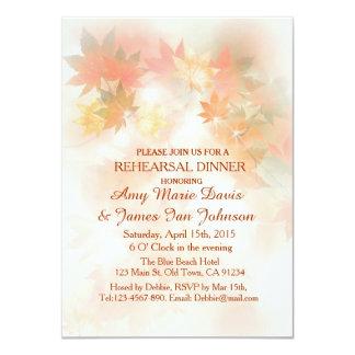 """La cena del ensayo de la niebla del otoño invita a invitación 4.5"""" x 6.25"""""""