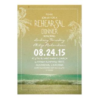 la cena del ensayo de las ondas y de las palmas de invitaciones personales