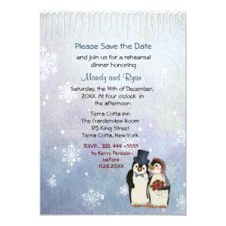 La cena del ensayo de los copos de nieve del boda anuncio personalizado