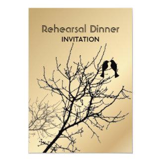 la cena del ensayo del árbol de los LoveBirds del Invitación