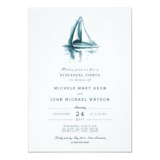 """La cena del ensayo del barco de navegación de la invitación 5"""" x 7"""""""