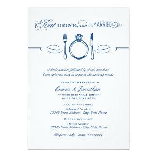 La cena del ensayo invita al | come la bebida y invitación 12,7 x 17,8 cm