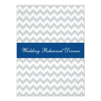 La cena elegante del ensayo del boda de Chevron Anuncio Personalizado