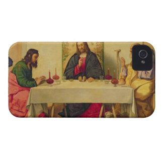 La cena en Emmaus, 1520 (aceite en lona) Funda Para iPhone 4