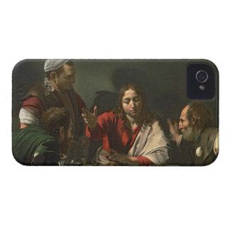 La cena en Emmaus, 1601 (aceite y tempera) Funda Para iPhone 4 De Case-Mate